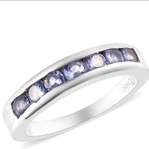Jewelry - .Tanzanite Channel Ring in Platinum Over SS